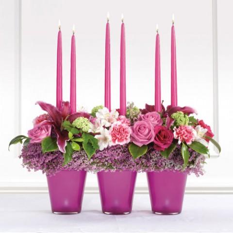 Новогодние композиции из цветов в качестве подарка