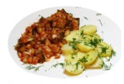 Овощи с горячим картофелем