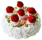 Торт творожно-клубничный