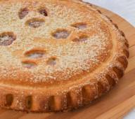 Пирог с яблоками и повидлом, 1кг.
