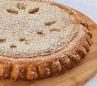 Пирог с черемухой и заварным кремом, 1 кг.