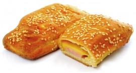 Пирожок с ветчиной и сыром, 70 гр.