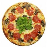 Пицца с курицей и грибами, 650 гр.
