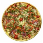 Пицца с мясным фаршем и копченостями, 650 гр.