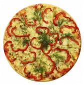 Пицца с куриным филе и ананасами, 600 гр.