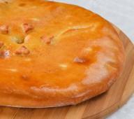 Пирог осетинский с сыром и грец. орехами, 900 гр.