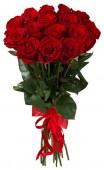 Букет из 15 красных роз, 50 см.