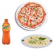 Комбо Мак закрытая пицца+суп+напиток (газировка 0,5/чай(кофе) 0,3