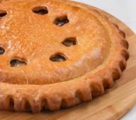 Пирог с мясом и баклажанами, 1кг.