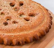 Пирог с курицей и грибами, 1 кг.