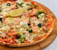 Пицца с морепродуктами, 650 гр.
