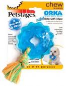 Игрушка д/собак Mini Орка-кольцо с канатом PETSTAGES