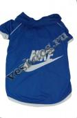 Рубашка для собак синяя