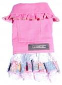 Платье для собаки джинс SC-159-pink