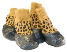 Носочки для улицы с резиновой подошвой LBE-004