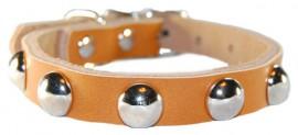 Ошейник кожаный для собак бронза BE-016-xs