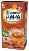 Компот ФрутоНяня, яблоко-курага-изюм 200 мл, 1 шт.