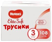 Трусики-подгузники Huggies Elite Soft 3, 108 шт, 6-11 кг.