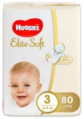 Подгузники Huggies Elite Soft Mega 3, 80 шт, 5-9 кг.