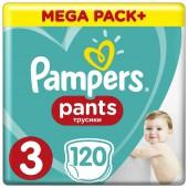 Трусики Pampers Pants 3 размер, 120 шт, 6-11 кг.