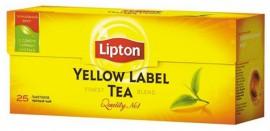 Чай черный LIPTON Yellow Label  25 пакетиков