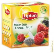 Чай черный LIPTON Лесные Ягоды  20 пирамидок