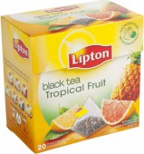 Чай черный LIPTON Грейпфрут и Ананас 20 пирамидок