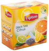 Чай черный LIPTON Citrus 20 пирамидок