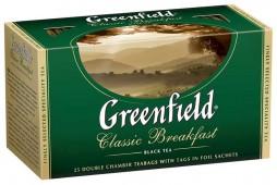 Чай черный GREENFIELD Classic Breakfast в Термосаше 25 пакетиков