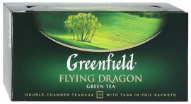 Чай зеленый GREENFIELD Flying Dragon в Термосаше 25 пакетиков
