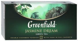 Чай зеленый GREENFIELD Jasmine Dream в Термосаше 25 пакетиков