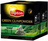 Чай зеленый LIPTON Байховый Green Gunpowder 20 пирамидок