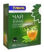Чай зеленый ЛЕНТА байховый классический  100 пакетиков