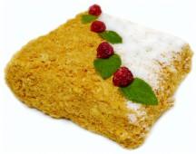 Торт «Наполеон» с малиной  кг.