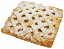 Пирог слоёный с ревенем и яблоком