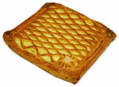 Пирог слоёный с капустой и яйцом