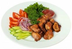 Шашлык свиной с овощами